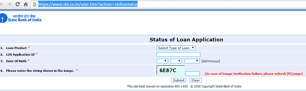SBI Car Loan Status