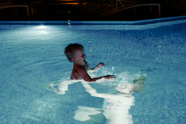 After hours swimming at the St. Regis Princeville