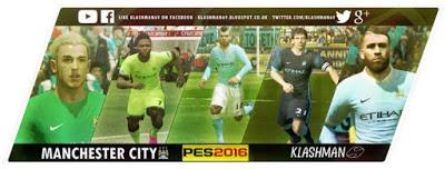 7698a0e8478 PES 2016 Manchester City 2015 16 GDB Kitpack Update