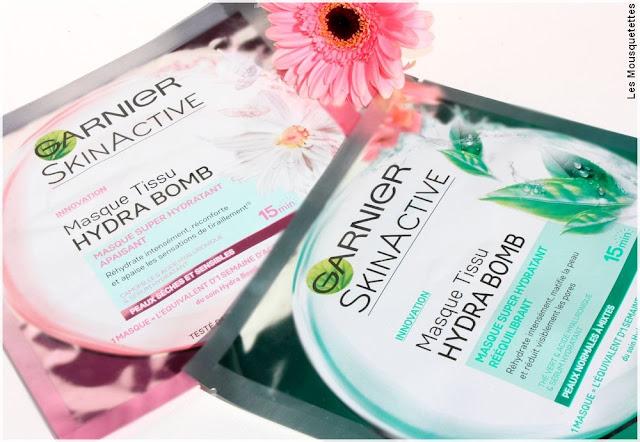 Skin Active Garnier Hydra Bomb masque - Blog beauté