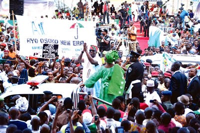 Inauguration of Ayodele Peter Fayose as the new governor of Ekiti State.