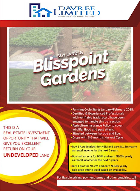 A land and farming investment scheme | Blisspoint Gardens Real Estate