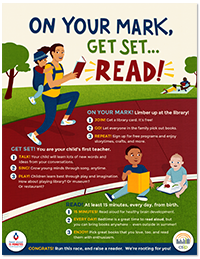 Poster: on your mark get set read!