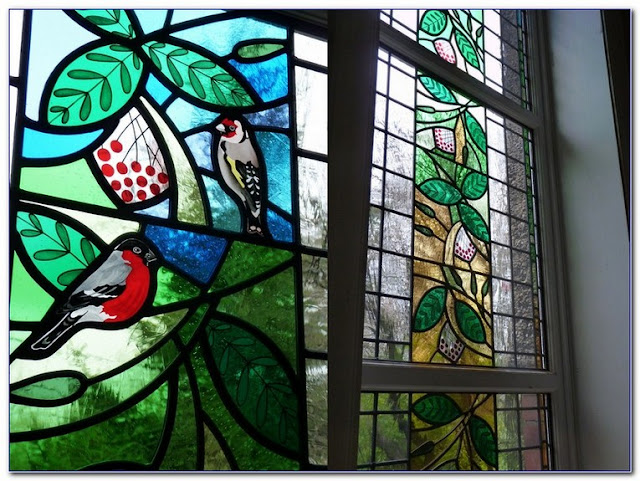 Faux Stained GLASS WINDOW Film UK Only