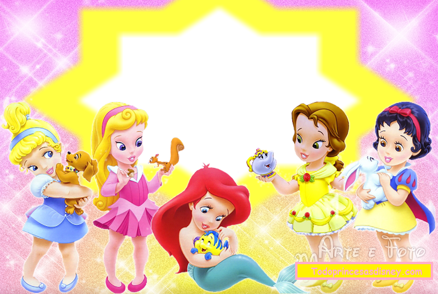 Disney Baby Princess: Free Invitations, Cards or Photo