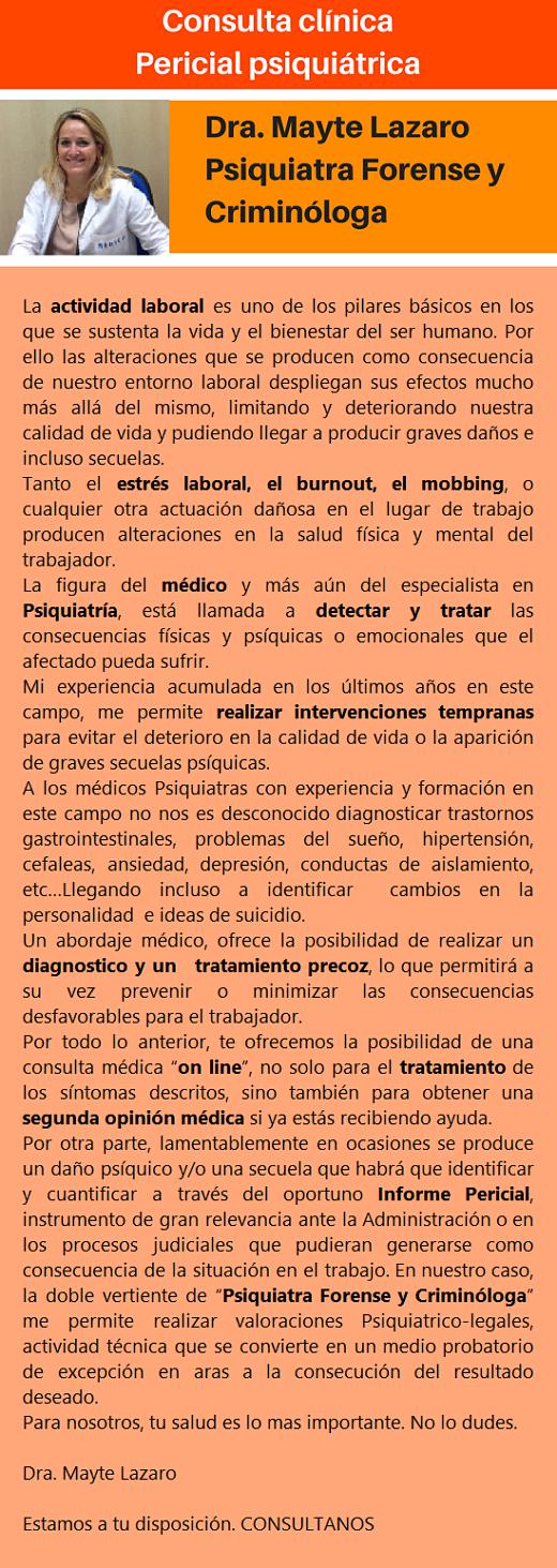 MobbingMadrid Consulta Clinica Pericial Psiquiatrica