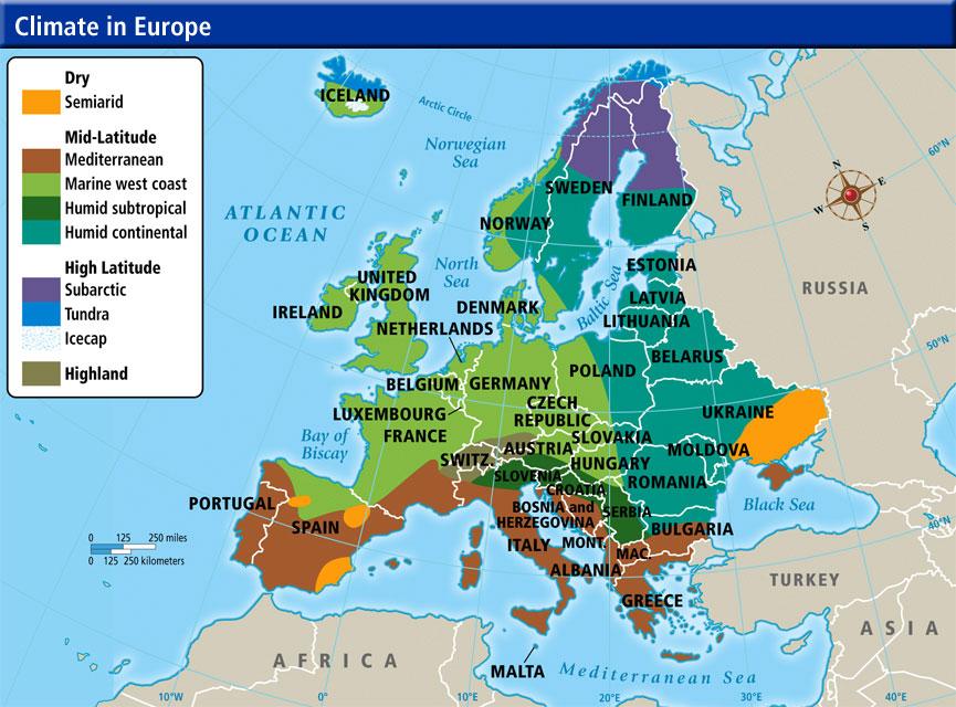 Online Terkepek Europa Eghajlata