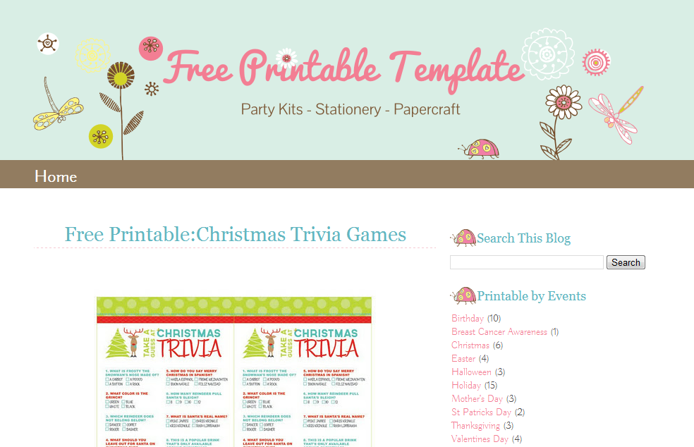 Blogger Template: Lady Bug | Ipietoon-Cute Blog Design