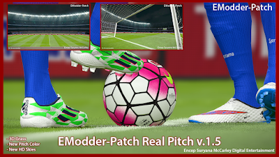 PES 2016 EModder Patch real Pitch V1.5