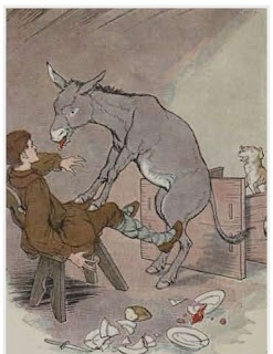 Dongeng Keledai Bodoh dan Anjing Kesayangan Tuannya (Aesop) | DONGENG ANAK DUNIA