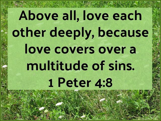 1 Peter 4:8, bible verses