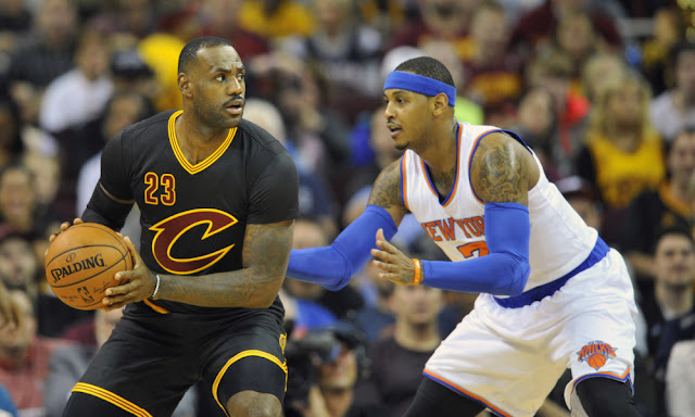 LeBron James versus the New York Knicks