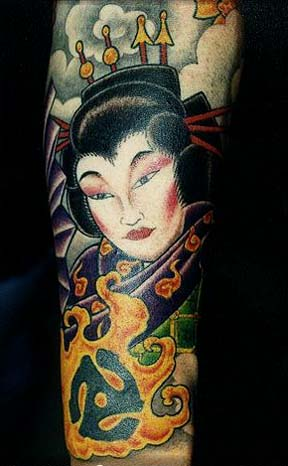 Tubhy 2012 Geisha Girl Tattoo Designs
