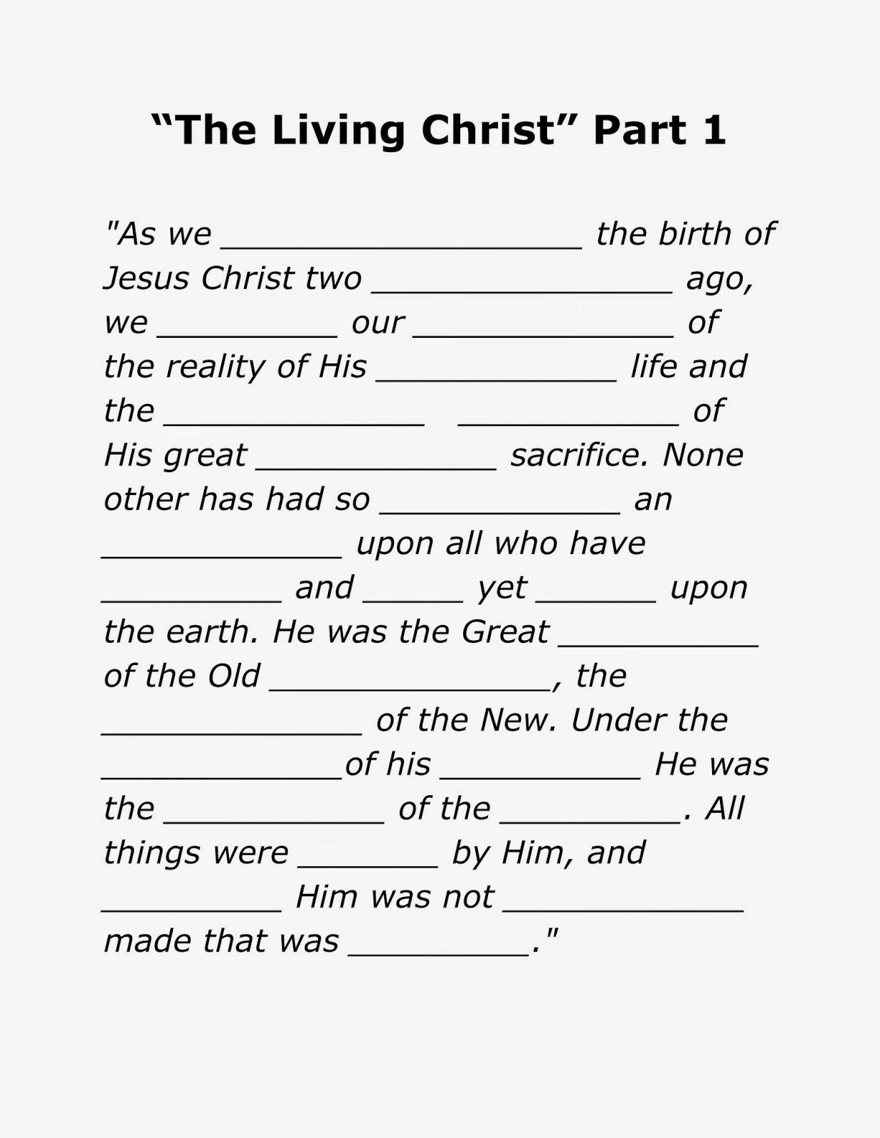 The Living Christ Songs
