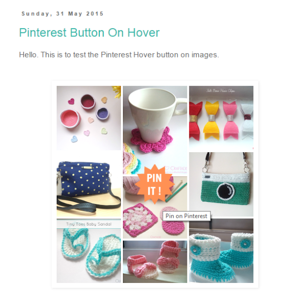 Create a Custom PINTEREST hover button on images in Blogger