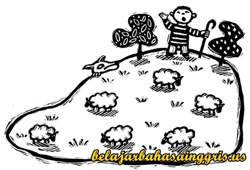 Fabel Bahasa Inggris Penggembala berteriak Serigala, Fabel Bahasa Inggris, Cerita Fabel Bahasa Inggris, Arti, Terjemahan. | www.belajarbahasainggris.us