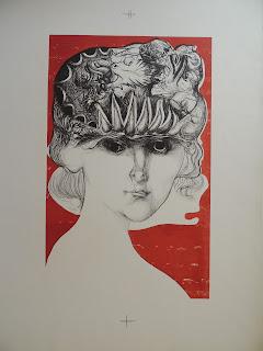 Modest Cuixart litografía mujer terminada