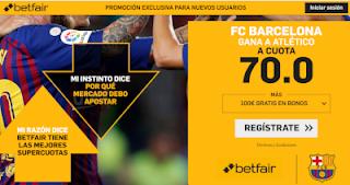 betfair supercuota Barcelona gana a Atletico 24 noviembre