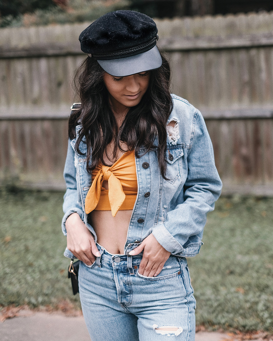 denim on denim outfit ideas, canadian tuxedo outfits, how to style total denim look, denim fall outfits