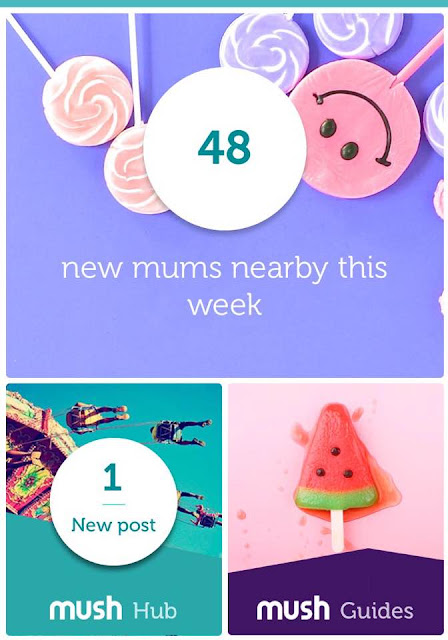 How to make new mum friends when you're shy - mush app review - app homescreen