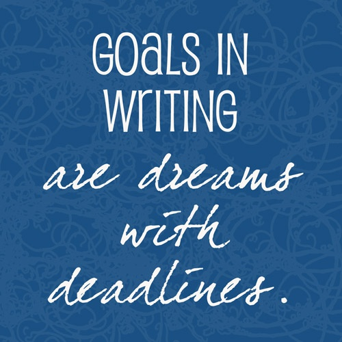 Goals in writing are dreams with deadlines for financial aid