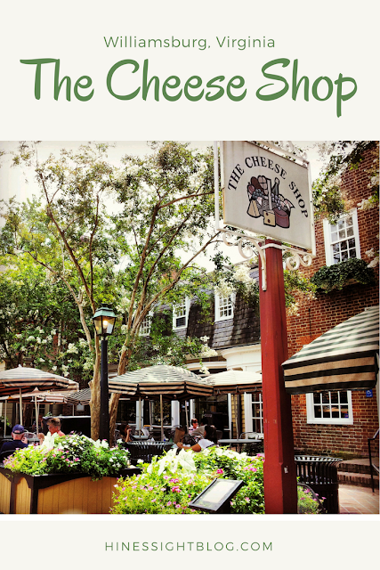 The Cheese Shop is Colonial Williamsburg is in Merchant's Square and is great for a quick lunch or dinner with the kids