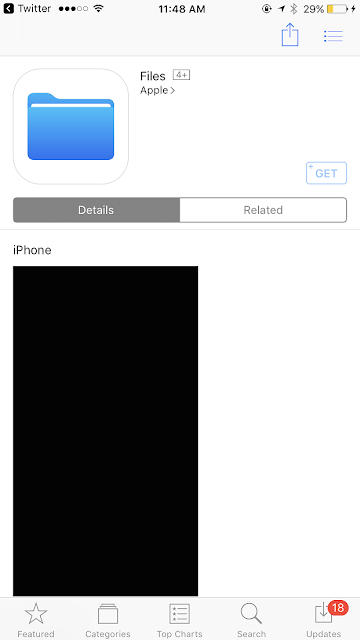 Ahead of WWDC 2017, a new Files app for iOS has appeared on the AppStore spotted by Steve T-S. With the launch of new iOS 11 at WWDC 2017, Apple to introduce new Files app for iOS 11.