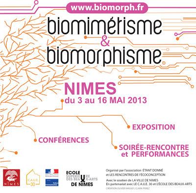 Biomimétisme & Biomorphisme, du 3 au 16 mai 2013, Nîmes