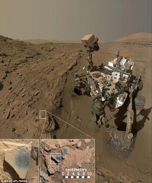 Rover Curiosity Menjelajahi Permukaan Planet Mars