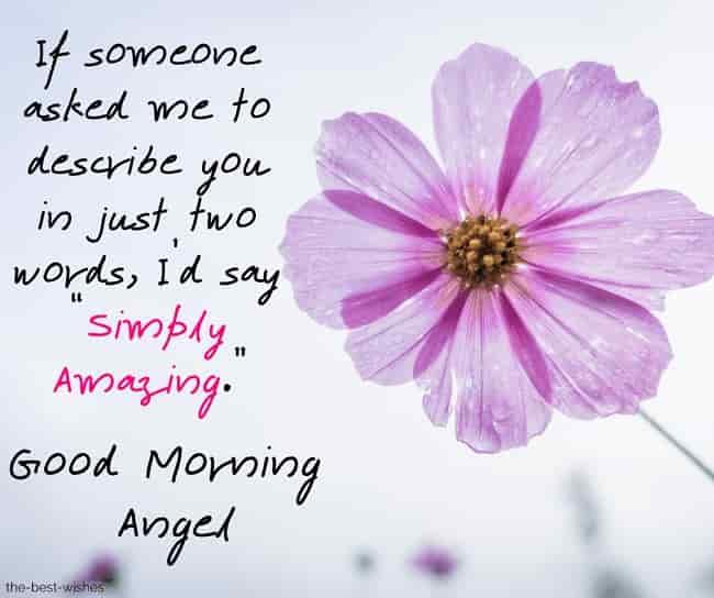 good morning angel sayings