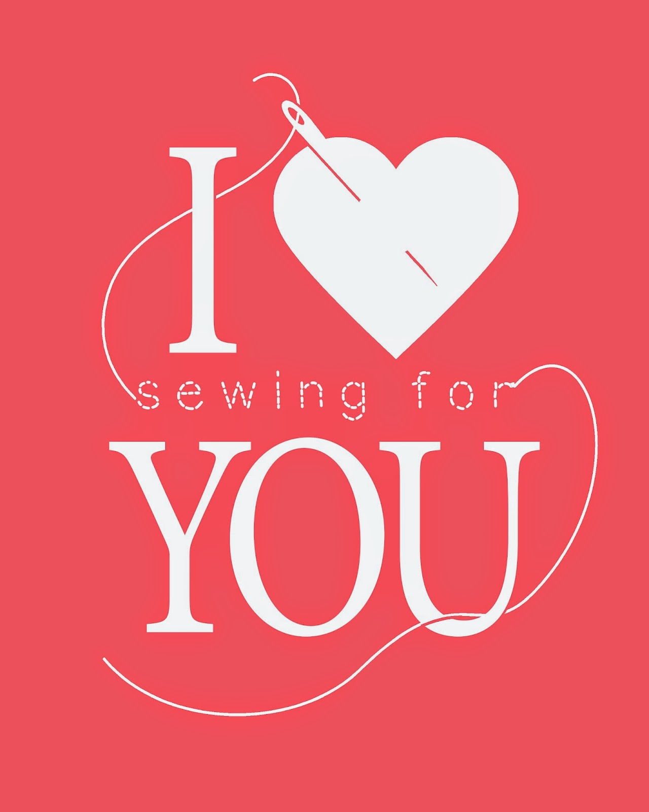 I Heart [Sewing for] You -- free printable in multiple sizes and colors | The Inspired Wren