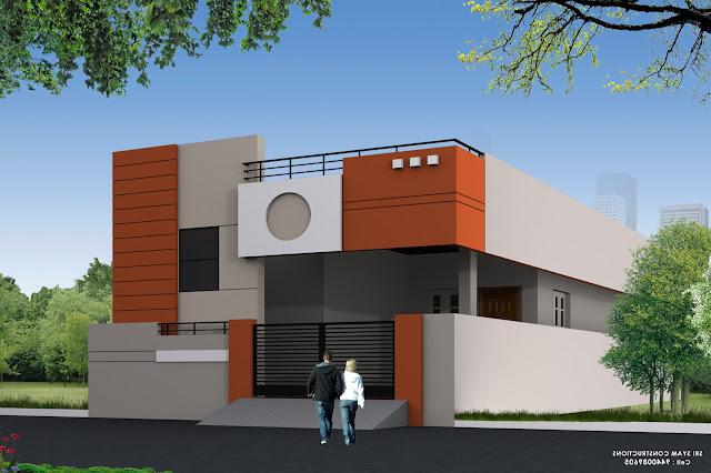 SINGLE FLOOR HOUSE ELEVATION DESIGNING PHOTOS Home