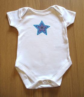 blue purple star onesie