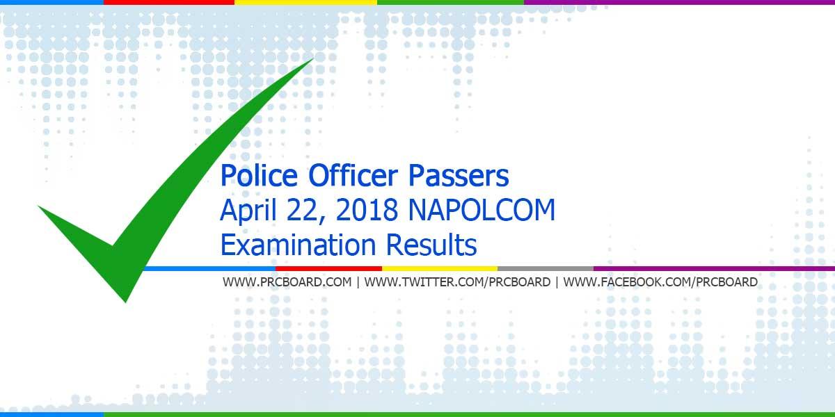 Napolcom Result April 2018 Police Officer Exam Passers