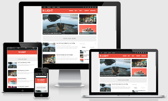 N Light Responsive Blogger Template