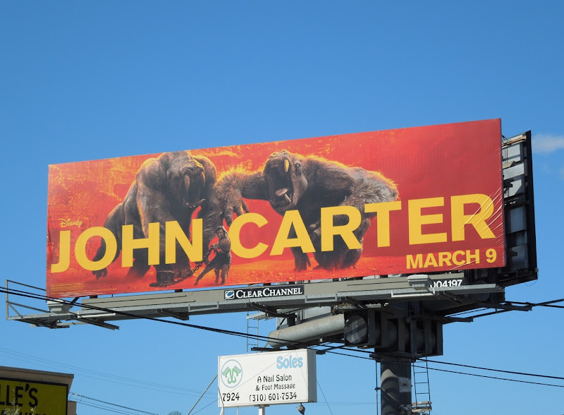 John Carter movie billboard