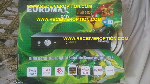 EUROMAX 50D HD RECEIVER CCCAM OPTION