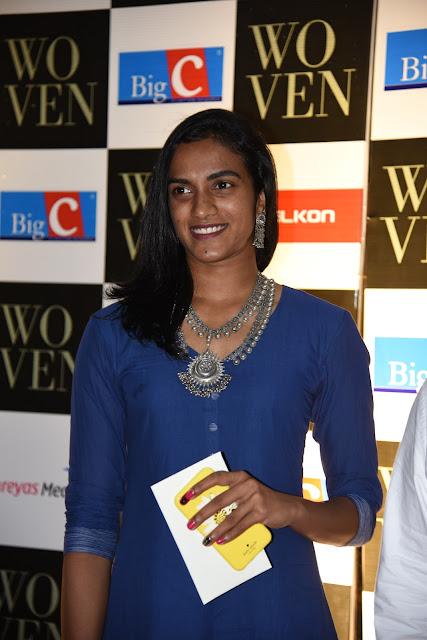 P. V. Sindhu at Woven 2017 Fashion Show