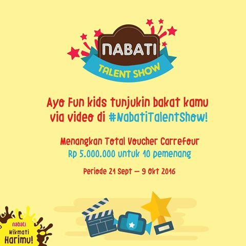 Kontes Video Nabati Talent Show Berhadiah Voucher Carrefour 5 Juta