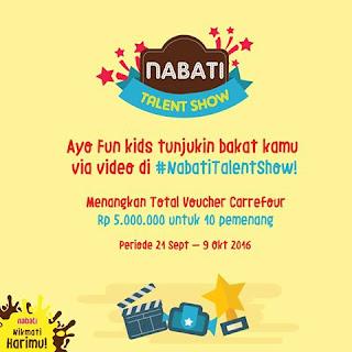Kontes Video Nabati Talent Show Berhadiah Voucher Carrefour 5 Juta
