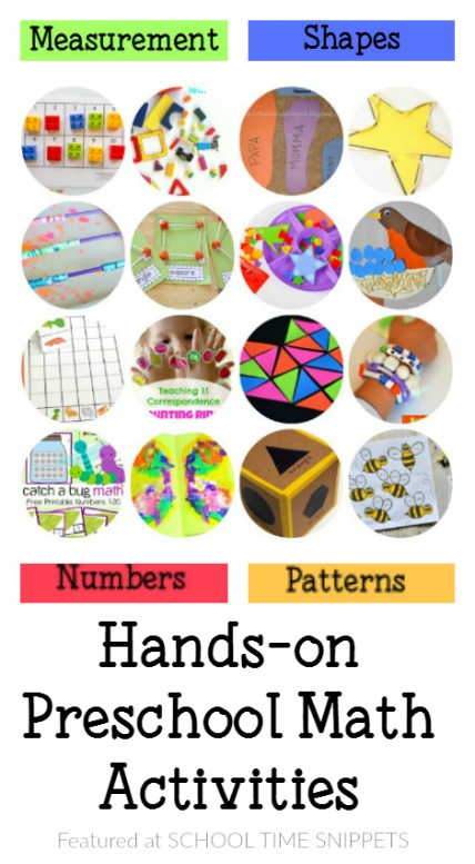 hands-on preschool math activities