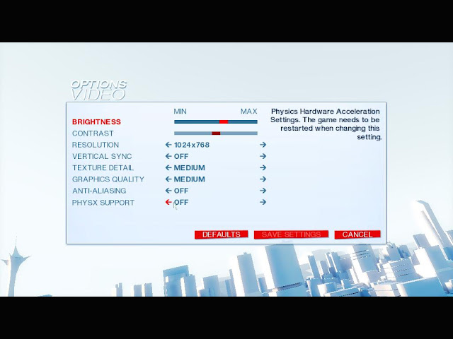 Mirrors Edge PhysX Fix