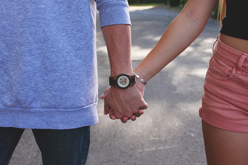 couple, cute teen couple, couple holding hands