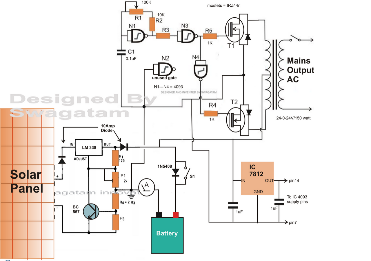 Wiring Diagram For Solar Inverter