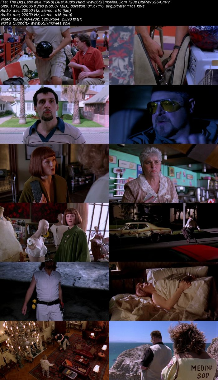 The Big Lebowski (1998) Dual Audio Hindi 720p BluRay x264 950MB Movie Download