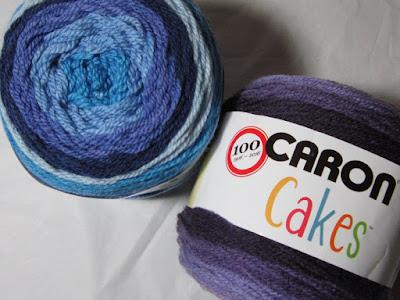 yarn, crochet, Caron Cakes