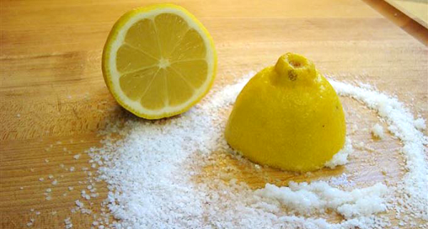 lemon, salt