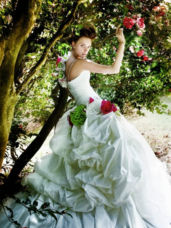 Whiteazalea Ball Gowns White Ball Gown Wedding Dresses With Red Color Accents