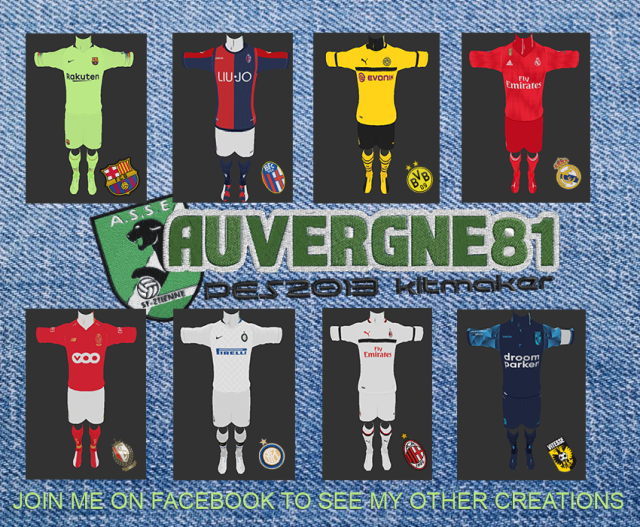 PES 2013 Kit Pack 2018/2019 Update 28 June 2018 By Auvergne81