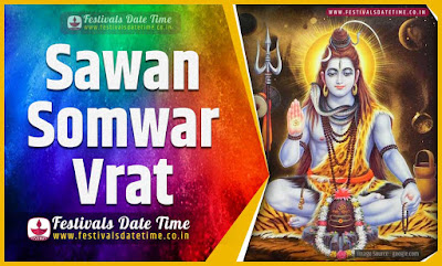 2020 Sawan Somwar Vrat Date and Time, 2020 Sawan Somwar Vrat Festival Schedule and Calendar